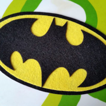 Batman or Batgirl Inspired Adhesive Patch / Magnet- Superhero Sticky Felt Patch / Sticker