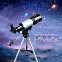 150X Zoom HD Outdoor Monocular Space Astronomic F300/70M Telescope With Portable Tripod Spotting Scope