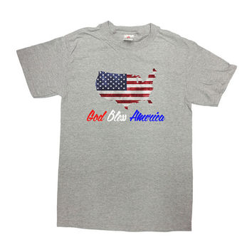 America Shirt God Bless America July 4th T-Shirt Memorial Day TShirt Fourth of July USA America Independence Day Mens Ladies Tee - SA260