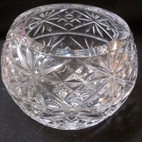 Lead Crystal Round  Vase, Lead Crystal Candle Holder (168)