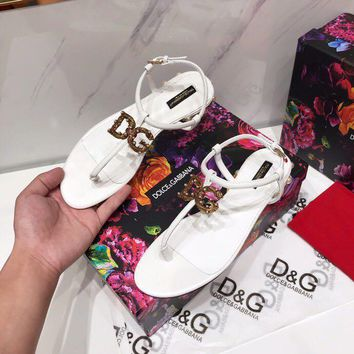 DG Popular Summer Women Flats Men Slipper GZ Sandals Shoes