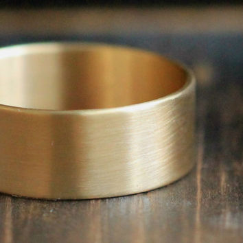 10K Gold Band w Satin finish and Secret Message- Personalized Wide Band-PaleFishNY