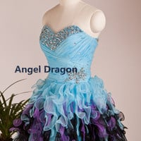 Angel Dragon  Cocktail Sexy Prom Dresses Short Evening Gowns