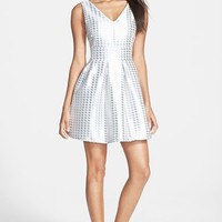 Women's Glamorous Houndstooth Fit & Flare