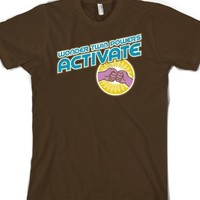 Wonder Twin Powers...Dark Tee-Unisex Brown T-Shirt