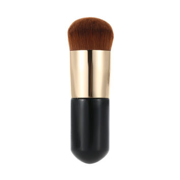1Pc Nylon Makeup Brush Wooden Handle