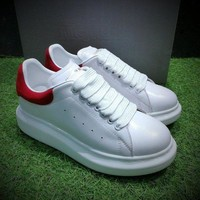 DCCK Alexander McQueen Sole Sneakers White / Red-1