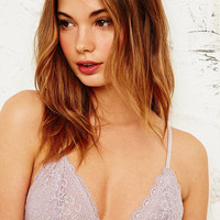 Honeydew Lace Triangle Bra in Lilac - Urban Outfitters