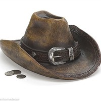 Cowboy Hat Piggy Coin Bank