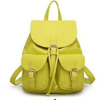 Women's Faux Leather Backpack