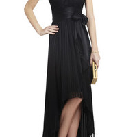 BCBG Alicia Silk Charmeuse Sash Gown
