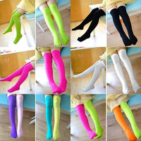 Korean Girls Socks Lovely Tube Students Kids Children Candy Color Velvet Stockings = 1958384004