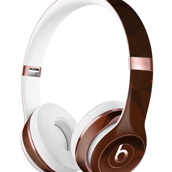 Maroon Abstract Gemotric Shapes Full-Body Skin Kit for the Beats by Dre Solo 3 Wireless Headphones