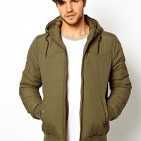 ASOS Jacket In Quilted Fabric - Khaki