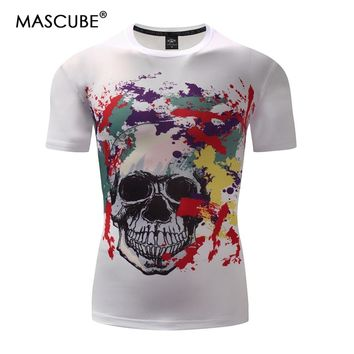 MASCUBE New 2018 Brand T-shirt 3D Print Skulls Harajuku Animation Running T shirt Summer Cool Mens Sports Tees Tops