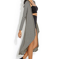 Surreal Striped Maxi Cardigan