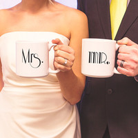 Mr. & Mrs. Gatsby 20 oz. Large Coffee Mugs (Set of 2)