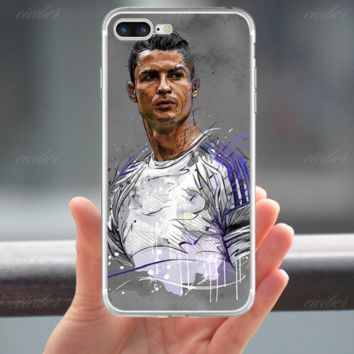 Cristiano Ronaldo Soft CASE COVER for iPhone X 8 7 6s Plus 5s Real Madrid Case