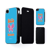 Sassy - Hello Gorgeous #10433 Black Flip Case for iPhone 4/4s by Sassy Slang