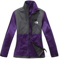 Discount The North Face Women's Denali Jacket Purple/Grey Give To You High Taste