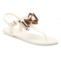 Ted Baker Womens Cream/Rose Gold AINDA Sandals