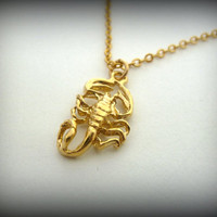 Scorpio Necklace ,Gold filled 14K Scorpion pendant, zodiac Scorpio necklace ,custom zodiac, zodiac sign, zodiac jewelry