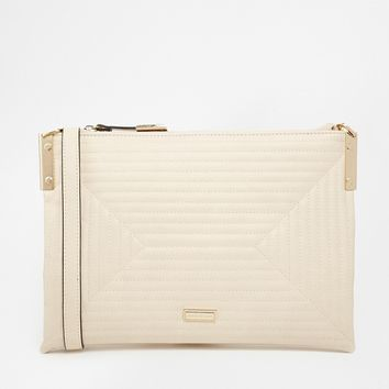 Cream Quilted Cross Body