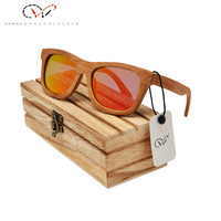 Luxury Custom Bamboo Sunglasses Vogue Bamboo Wood Eyewear Polarized Custom Bamboo Sunglasses
