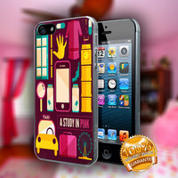 BBC Sherlock Collage Pink - Print on hard plastic case for iPhone case. Select an option