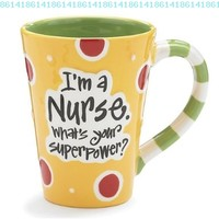 "Nurse 12 Oz Coffee Mug/cup with ""I'm A Nurse"" What's Your Super Power?"" Great Gift For Nurses:Amazon:Kitchen & Dining"