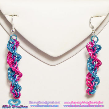 Custom DNA Strand Earrings - Choose your colors!