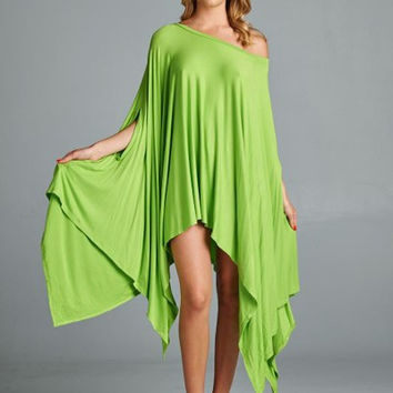 Up Down Poncho Tunic (Lime)