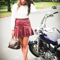 Merlot Flirt Skirt | Pretty Edgy