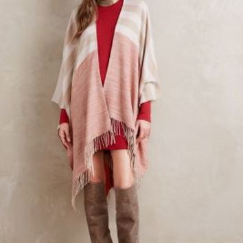 Eisley Stripe Wrap by Anthropologie in Peach Size: One Size Scarves