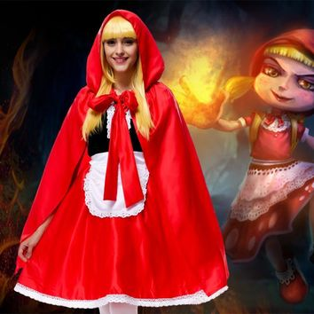 Halloween family costume Party LIttle Red Riding Hood Costume High Quality Cosplay Fancy Dress Mother and Child dress