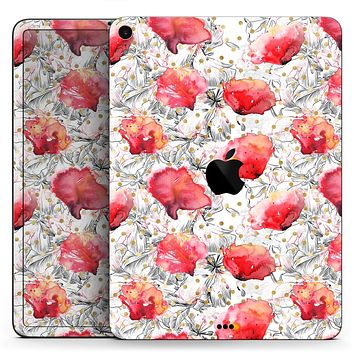 """Karamfila Watercolo Poppies V26 - Full Body Skin Decal for the Apple iPad Pro 12.9"""", 11"""", 10.5"""", 9.7"""", Air or Mini (All Models Available)"""