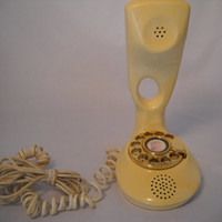 Vintage Rotary Dial Yellow Phone
