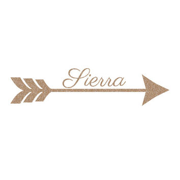 Name and Arrow Decal Sticker