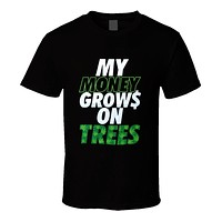 My Money Grows On Trees - Money & Weed CannaTee - Men's T-Shirt