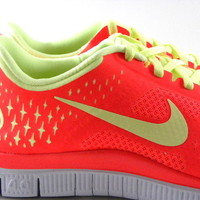Nike Free 4.0 v2 Bright Orange Crimson Running Gym/Work Womens Shoes 511527 630
