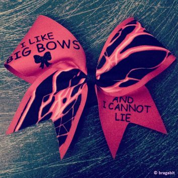 I like big bows and I cannot lie RED  bow.