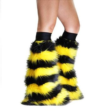Bumblebee Stripe Black and Yellow Fluffies