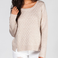 Jack By Bb Dakota Colette Womens Sweater Cream  In Sizes