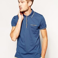 BOSS Orange Polo with Tipping -
