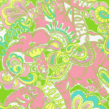 Lilly Pulitzer inspired 8 1/2 by 11 inches Printed Heat Transfer Sheets for Light Fabrics!