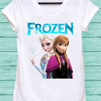 Elsa And Anna Frozen Shirt Rock Shirt Hip Hop Top Punk Top Women T