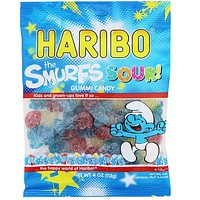 Haribo - The Smurfs Sour Gummi Candy, 4 oz. (113g)