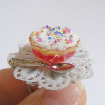 Trifle Miniature Food Ring - Miniature Food Jewelry