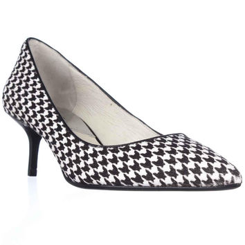 MICHAEL Michael Kors MK Flex Kitten Pointed-Toe Pumps - Black/White