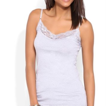Basic Cami with Lace Trim